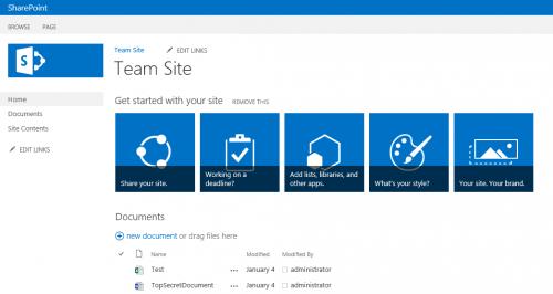 10 - SharePoint 2013 team site