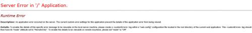 01 - SharePoint 2013 Server Error in Application