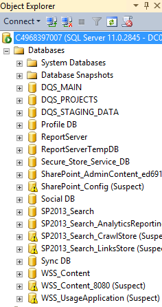 02 - SharePoint 2013 databases are in Suspect mode