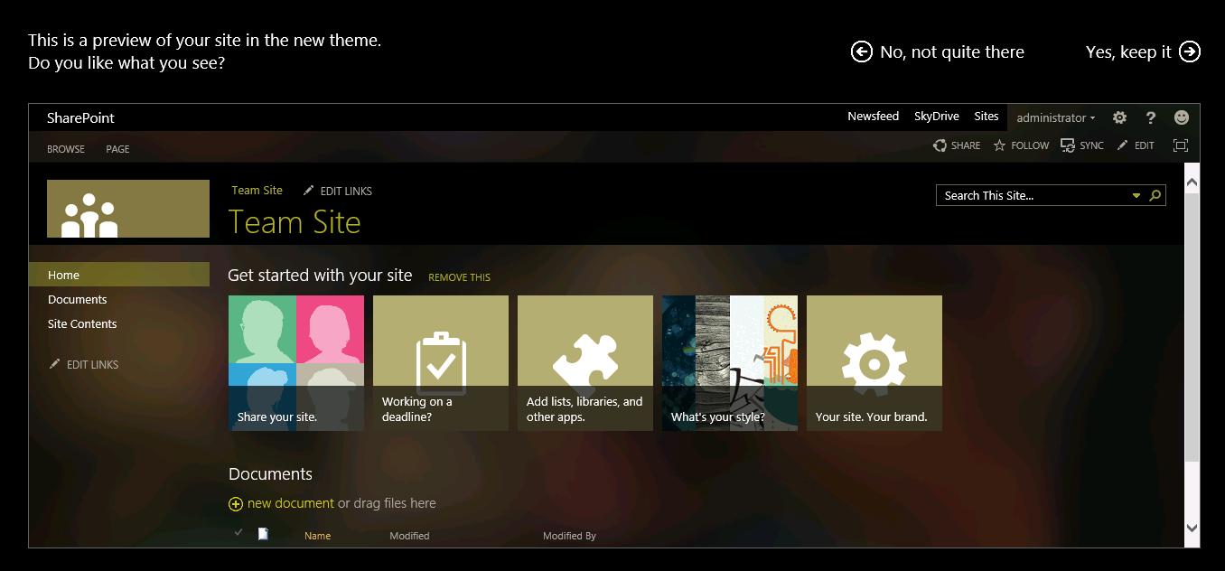 SharePoint Themes: SharePoint 2013 Site Themes - CloudShare