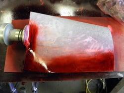 Dye Penetrant Inspection of Aluminum Blades