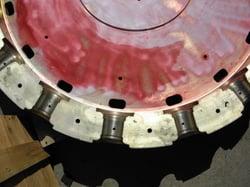 Dye Penetrant Inspection of Two Piece Aluminum Hub