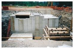 Production Hoist Foundation with Backleg Anchors