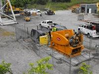 Lowering of Mine Equipment with Diesel Hoist