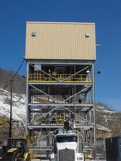 Tower Mounted Friction Hoist Headframe