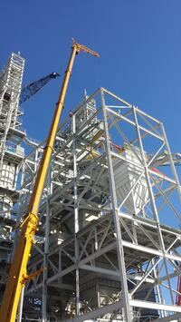 Steel Erection for Kiln Feed System (2)