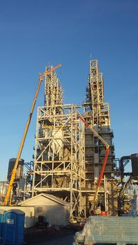 Steel Erection for Kiln Feed System