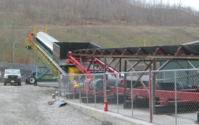 Mine Drive Transfer to Radial Stacker
