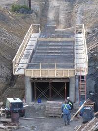 Concrete Reclaim Tunnel