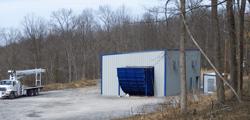Axial Exhaust Fan in Sound Enclosure