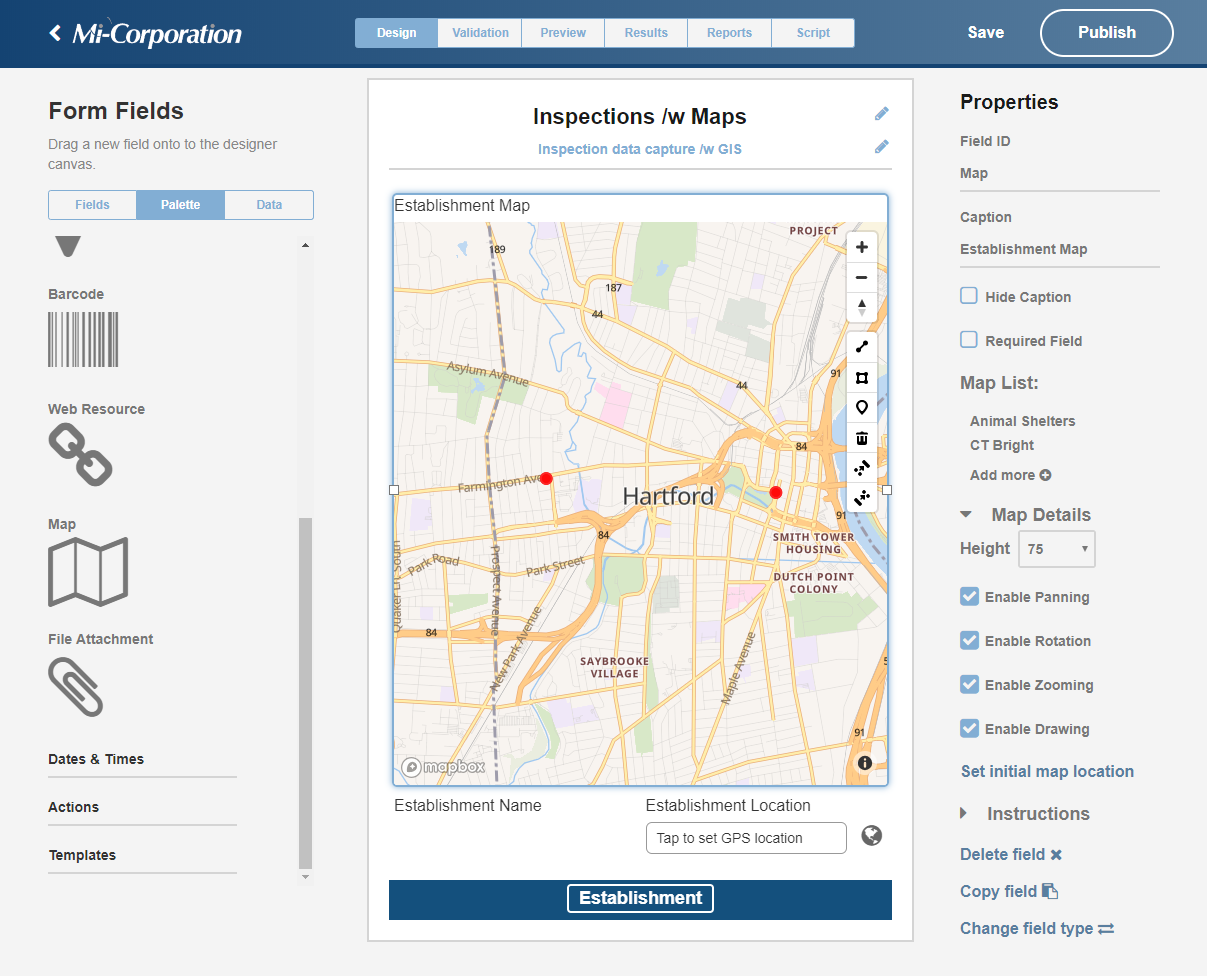 Mapping Comes to Version 12 of the Mobile Impact Platform