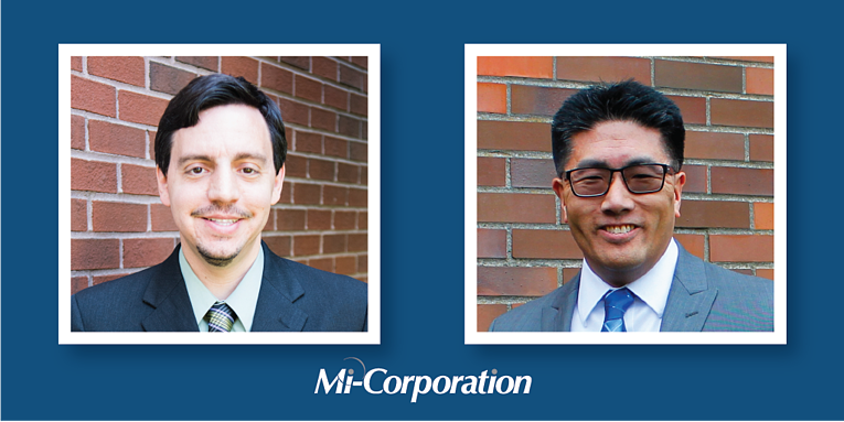 Thankful for their Work at Mi-Corporation: Chris DiPierro and David Nakamura
