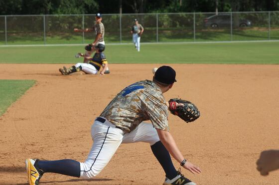 first base action