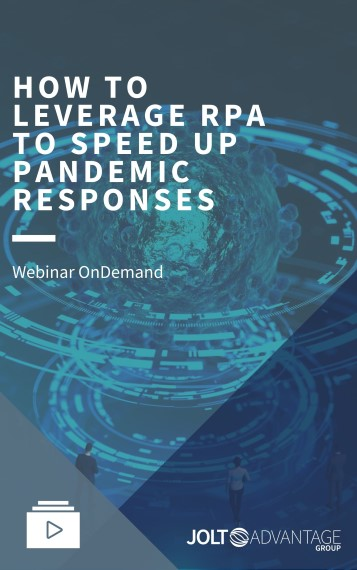 Webinar Cover - HOW TO LEVERAGE RPA TO SPEED UP PANDEMIC RESPONSES