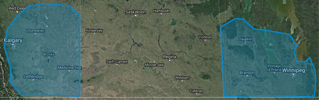 Canada flight areas for high Resolution imagery