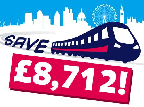 save 8712 pounds