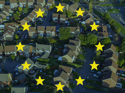 Houses under a European Flag