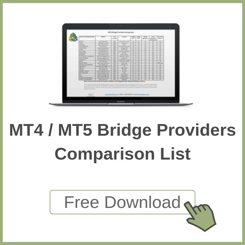 MT4/MT5 Bridge Providers Comparison List