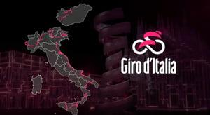 Giro d'Italia 2020 Italy map