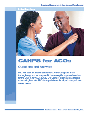 CAHPS for ACOs? PRC Knows All About It.