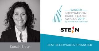 Stenn International Announced Best Receivables Financier at the TFG International Trade Finance Awards