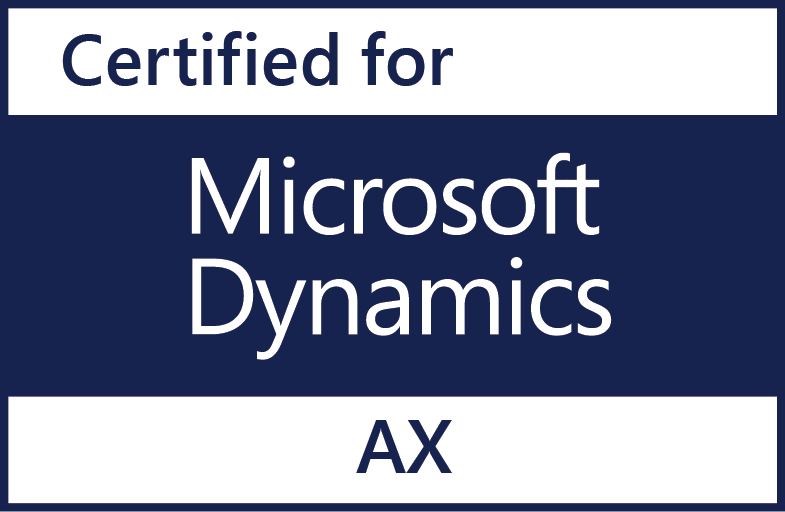 Data Masons is certified for Microsoft Dynamics AX
