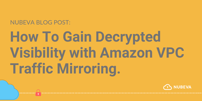 Decrypted Visibility With Amazon VPC Traffic Mirroring