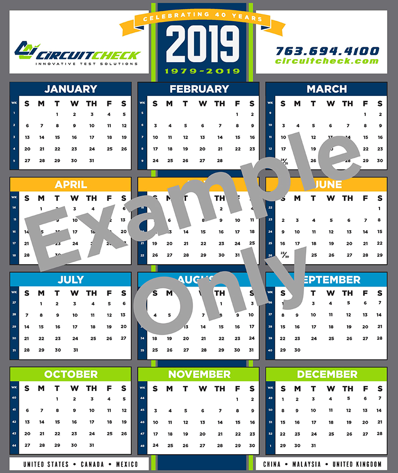 Circuit Check 2020 Calendar Sign Up
