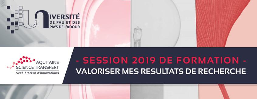 Formation à la valorisation de la Recherche - 14/11/2019 à l'UPPA