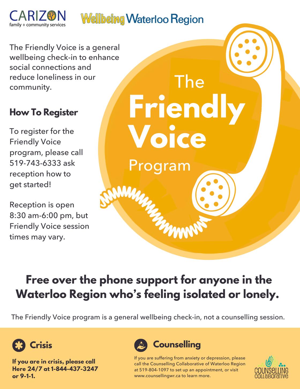 friendly voice program call 519-743-6333