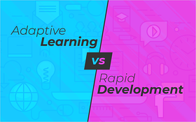 Adaptive Learning vs Rapid Development_Blog Featured Image 800x500