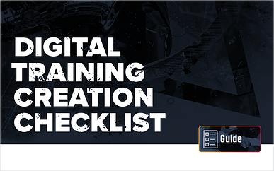Free Download: Digital Training Creation Checklist