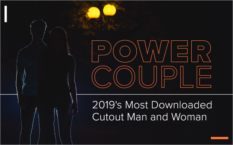 Power Couple: 2019's Most Downloaded Cutout Man and Woman