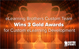 eLearning Brothers Custom Team Wins 3 Gold Awards for Custom eLearning Development_Blog Featured Image 800x500