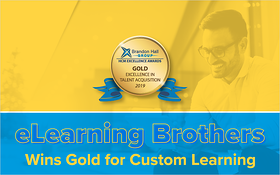 eLearning Brothers Wins Gold for Custom Training_Blog Featured Image 800x500