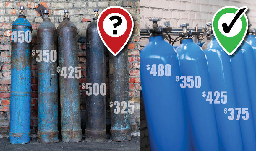 Gas Cylinders and Bags of Money. What's the Difference?