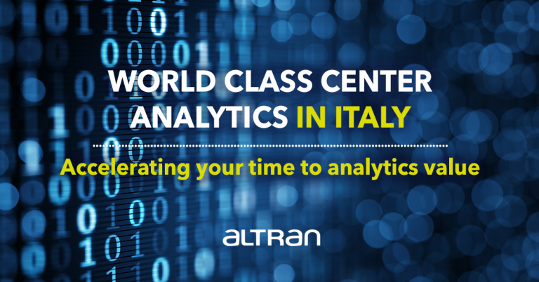Altran launches dedicated analytics and AI capabilities in Italy