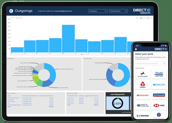 DirectID Insights Power BI mockup