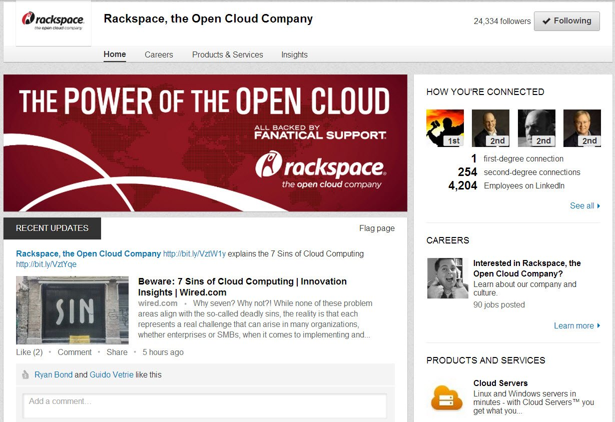 Social Media Tips - rackspace