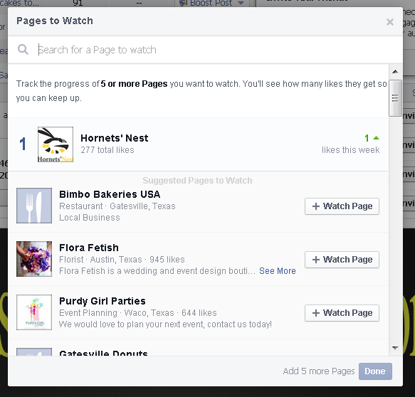 facebook pages to watch