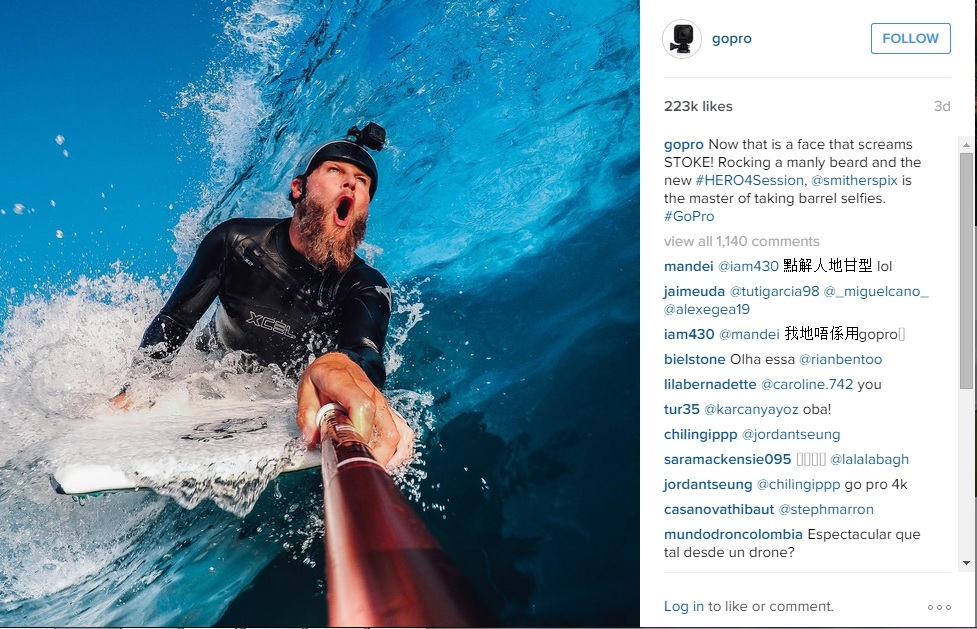 Visual Content Marketing: GoPro