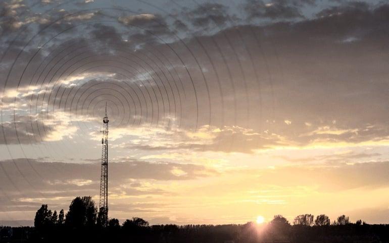radiowave-visualisation-at-sunset-picture-id922906222-1