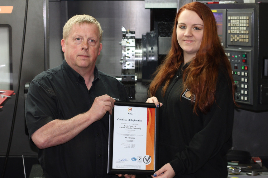 Nortim Precision Engineering Certificate