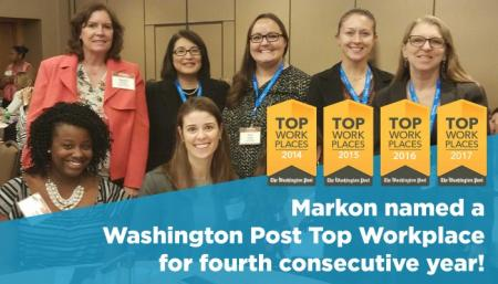 Markon Solutions Named Top Workplace by The Washington Post for Fourth Consecutive Year