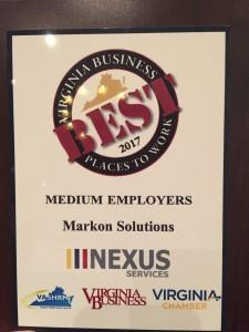 Markon Solutions Named Best Place to Work in Virginia