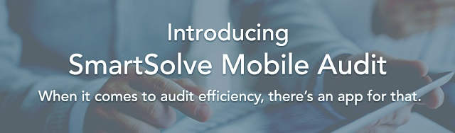 Introducting SmartSolve Mobile Audit