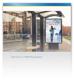 Text-to-9-1-1: PSAP Perspective whitepaper cover