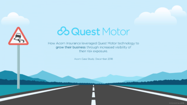 Quest Motor helps Acorn Insurance grow their business through increased visibility of their risk exposure