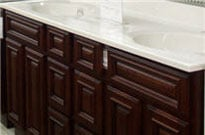 bathroom vanities, granite tops, and cultured marbel tops in stock