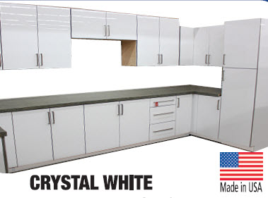 crystal white glossy cabinets